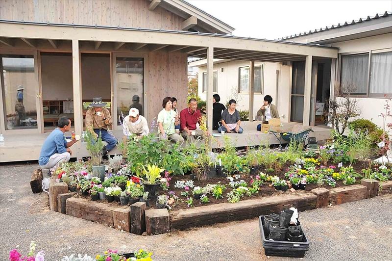 みんなの花壇 福田町西仮設住宅