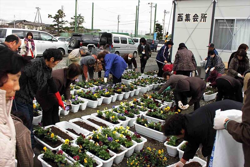 東松島矢本大曲運動公園仮設住宅