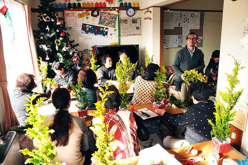 クリスマスアレンジ教室