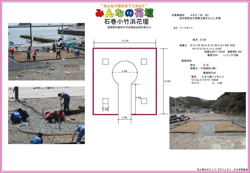 みんなの花壇■石巻小松浜_2012_4-21