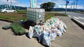 石巻市大川地区にある花壇への支援活動