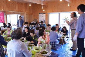 石巻市大川地区長面のハマナスCaféにて支援活動