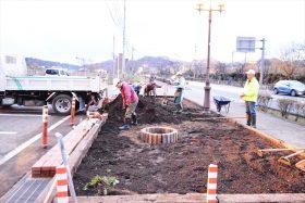 市民花壇「錦が丘ネット」の花壇の大改造計画