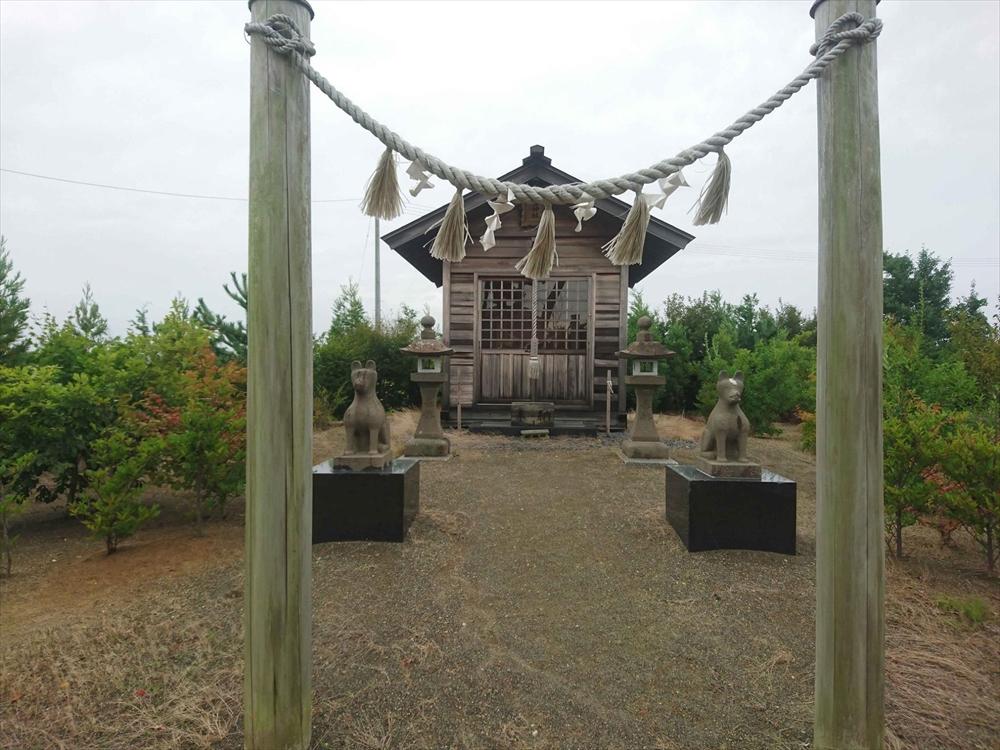 仙台市宮城野区岡田浜通の神社吉窪社に立ち寄り