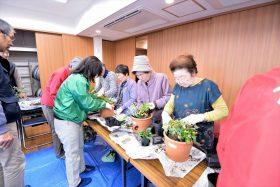 テラコッタ寄せ植え教室