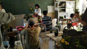 宮城県農業大学校ハンギングの実習