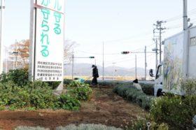 石巻市大川地区花壇への支援活動