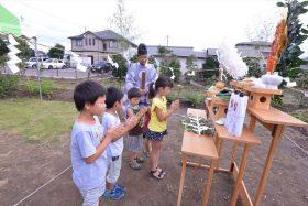 農業倉庫(仮称KANAハウス)の起工式