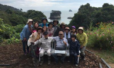 塩釜浦戸諸島「海と花物語」への支援活動